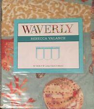 Waverly Shore Thing Flaxseed Rebecca Valance Curtain 52 x 18 Seashells