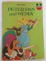 Walt Disney's Peter Pan and Wendy Hard Cover Book 1981