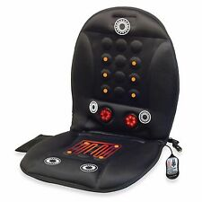 Heated Massage Seat Lower Back Neck Lumbar Pad Car Home Office Spa Chair Cushion