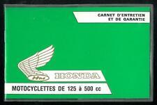 Carnet d'Entretien & Garantie vierge HONDA 1980/81 - CB / XLS 125 / 250 / 500 CX