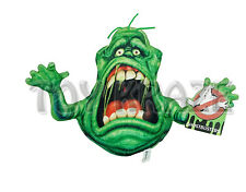 """GHOSTBUSTERS PLUSH! GREEN SMALL SLIMER SCARED GOO MONSTER SOFT DOLL 7"""" NWT"""