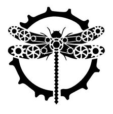 STEAMPUNK DRAGONFLY FLEXIBLE RE USEABLE STENCIL - IMAGE APPROX 13cm x 13cm