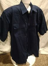 Men's Vintage Da Vinci Of California Navy Short Sleeve Button Xlt Tall Shirt