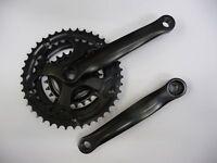 Bicycle Bike MTB Hybrid Triple Chainset 28/38/48T 170mm Crankset Black