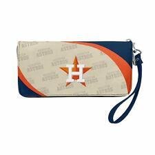 Houston Astros MLB Women's Curve Zip Organizer Wallet / Purse