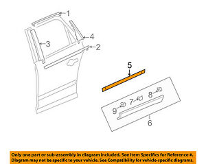 GM OEM Exterior-Rear-Side Molding Right 22763942