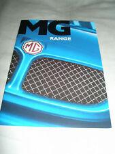 MG range brochure 2002