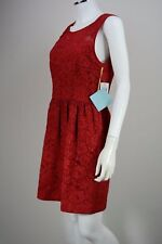 Women's CeCe by Cynthia Steffe size 4 Red Floral A-Line Fit Flare Dress NEW NWT