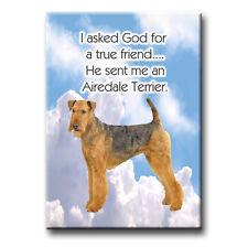 Airedale Terrier True Friend From God Fridge Magnet Dog