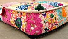 Indian PatchworkLarge Floor Ottoman Pouf Cushion Pillow Cover Square Pet Dog Bed