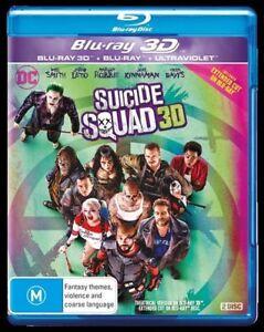 Suicide Squad (Blu-ray, 2016) 3D 2D & Ultraviolet - ACTION ADVENTURE
