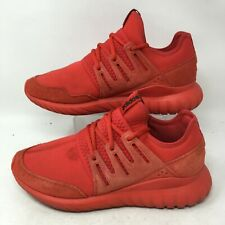 Adidas Tubular Radial Running Shoe Sneakers Lace Up Neoprene Triple Red Mens 8.5