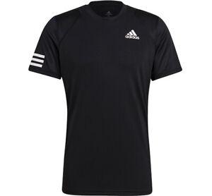 Adidas Club 3STR Tee T-Shirts Black Racket Slim Fit NWT GL5403