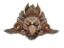 Handmade Carved Protector Garuda Face Bird Resin Wall or Door Hanging Buddha