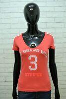 ADIDAS Donna Polo Maglia Taglia XS Camicia Maglietta Shirt Women Cotone Fucsia
