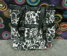 ROXY Multi-Color Floral Design Shoulder/Tote Bag  w/Silver Trim