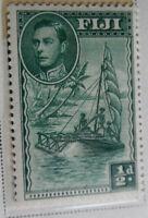 Fiji 1938-40 Stamp 1/2d MNH Stamp StampBook1-34