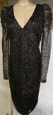 Boohoo bodycon beads women  evening/ holiday / business  dress Size UK 10