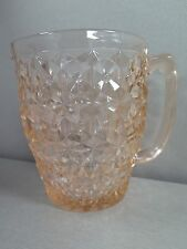 Vintage Pink Depression GLASS Pitcher Diamond Flowers Pattern US Y225