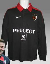 Vintage Nike Toulouse Camiseta de rugby PEUGEOT Sponsored negro NUEVO M