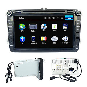 8'' Radio Stereo Multimedia BT Car DVD Player GPS Navigation For VolksWagen VW