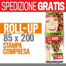 ROLL UP 85*200 + STAMPA espositore totem striscione banner personalizzato 100305