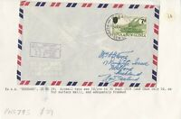 PNG795) Papua New Guinea 1959 airmail cover Rabaul to NZ with 7d surcharge