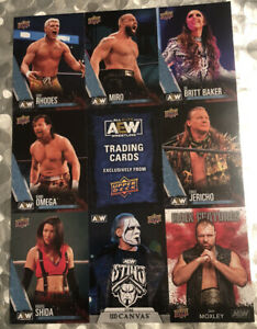 NYCC 2021 AEW UPPER DECK EXCLUSIVE FIRST EDITION UNCUT CARD SHEET IN HAND