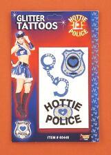 Tatoo hottie police paillettes menottes ecusson pour tissu Tatoo mode éphémère