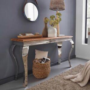 WOHNLING Konsolentisch Massivholz 130 cm Flurtisch Anrichte Modern Schreibtisch