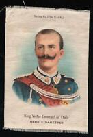 VINTAGE NEBO TOBACCO CIGARETTE SILK KING VICTOR EMANUEL of ITALY - EXCELLENT