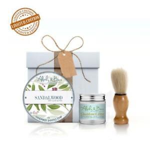Gift For Mens Sandalwood-Vetiver Moisturising Cream & Sandalwood Shaving Soap