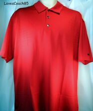 Nike Tiger Woods Collection Polo Dri-Fit Mens Size L Red