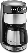 Kitchenaid Coffee Maker Thermal 12 Cup Machine Contour Silver RR-KCM1203CU