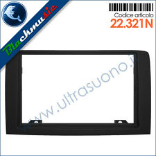 Mascherina supporto autoradio 2ISO-2DIN Fiat Idea (2003-2012) colore nero