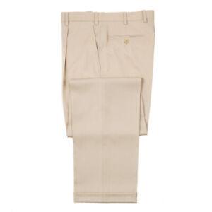 Brioni Classic-Fit 'Cortina' Beige Wool Dress Pants 31 W (Eu 46) NWT