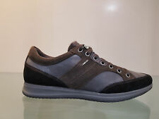 SCARPE GEOX SNAKE BLACK SMO LEA - 41 SNEAKER GEOX SMOOTH LEATHER UK 7 - US 8