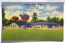 Timber Lane Motel, Rosenberg, Texas Postcard A903