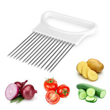 Useful Easy Cut Onion Holder Slicer Vegetable Tomato Cutter Kitchen Gadget Tool