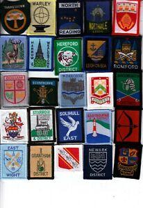 Boy Scout bound DISTRICT Badges x 25 inc +Ext THAMESDOWN