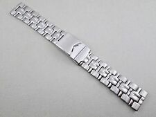 Graham Int. men's 20mm lug size solid stainless steel watch band silver tone