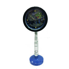 Table clock with spring black blue removable height 15 11/16in diameter 5 7/8in
