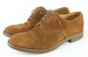 Peal Co Brooks Bros Crockett & Jones Mens Shoes Suede Derby Dainite SZ US 10.5