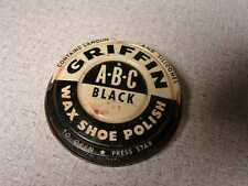 Griffin shoe polish tin can vintage ABC