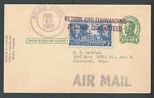 1952 PC RETURN FORWARDING/POSTAGE GUARANTEED HAND STAMPED ACROSS SEE INFO