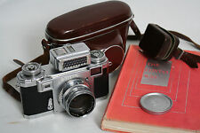 Contax IIa with Zeiss 5cm f1.5 lens Gossen Sixti meter case NO RESERVE