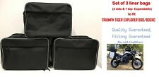 PANNIER LINER INNER BAGS & TOP BOX BAG FOR TRIUMPH TIGER 800/800XC EXPANDABLE