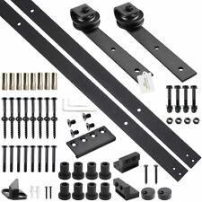 10 FT Carbon Steel Sliding Barn Wood Door Hardware Kit Track Set for Single Door