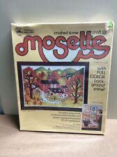 Vintage 1975 Craft Master Crushed Stone Craft Kit-Mosette #20901 Autumn Harvest
