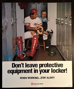 1970's JOHNNY BENCH Ingersoll Rand POSTER Cincinnati Reds RARE